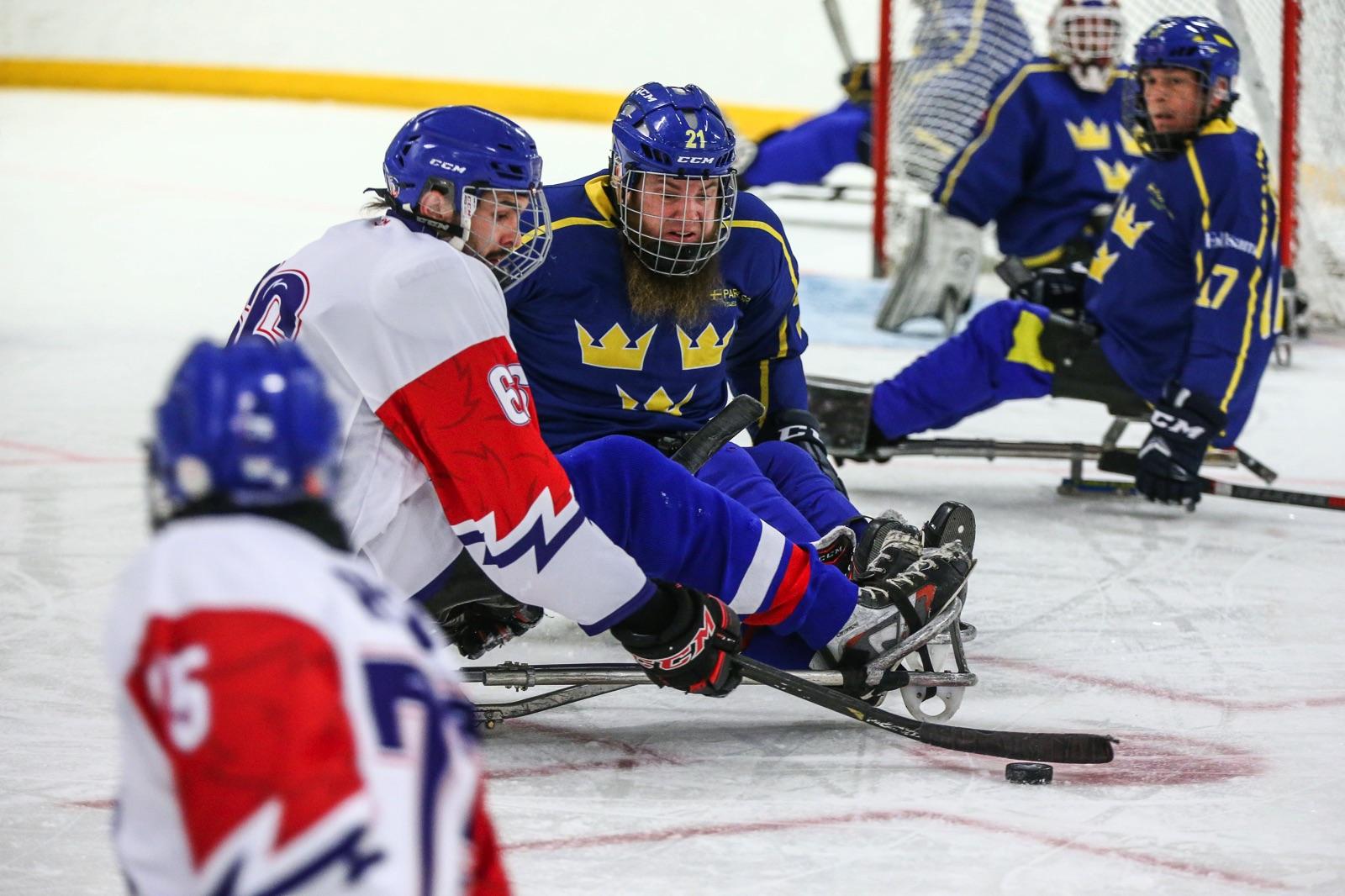 Paraishockey. Sverige och Tjeckien.