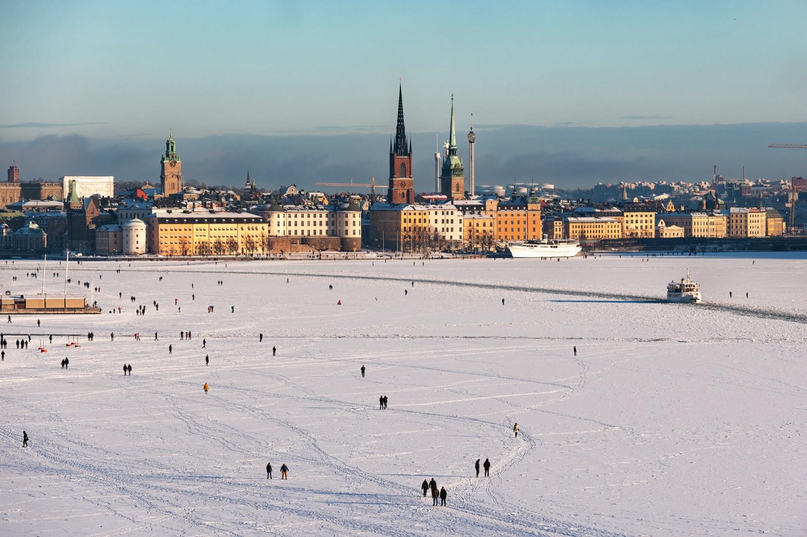 Stockholm vinterlandskap.