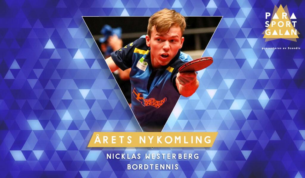 Nicklas Westerberg, Årets nykomling.