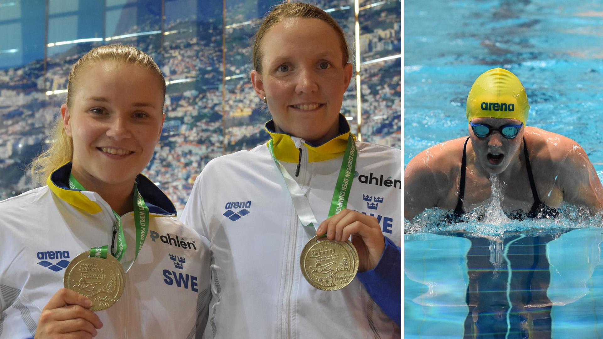 Lina Watz och Pernilla Lindberg visade god form på EM i på Madeira. På bilden visar de upp varsin medalj från mästerskapet.