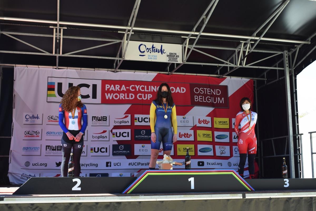 Anna Beck vann tempoloppet på världscupen i Belgien.