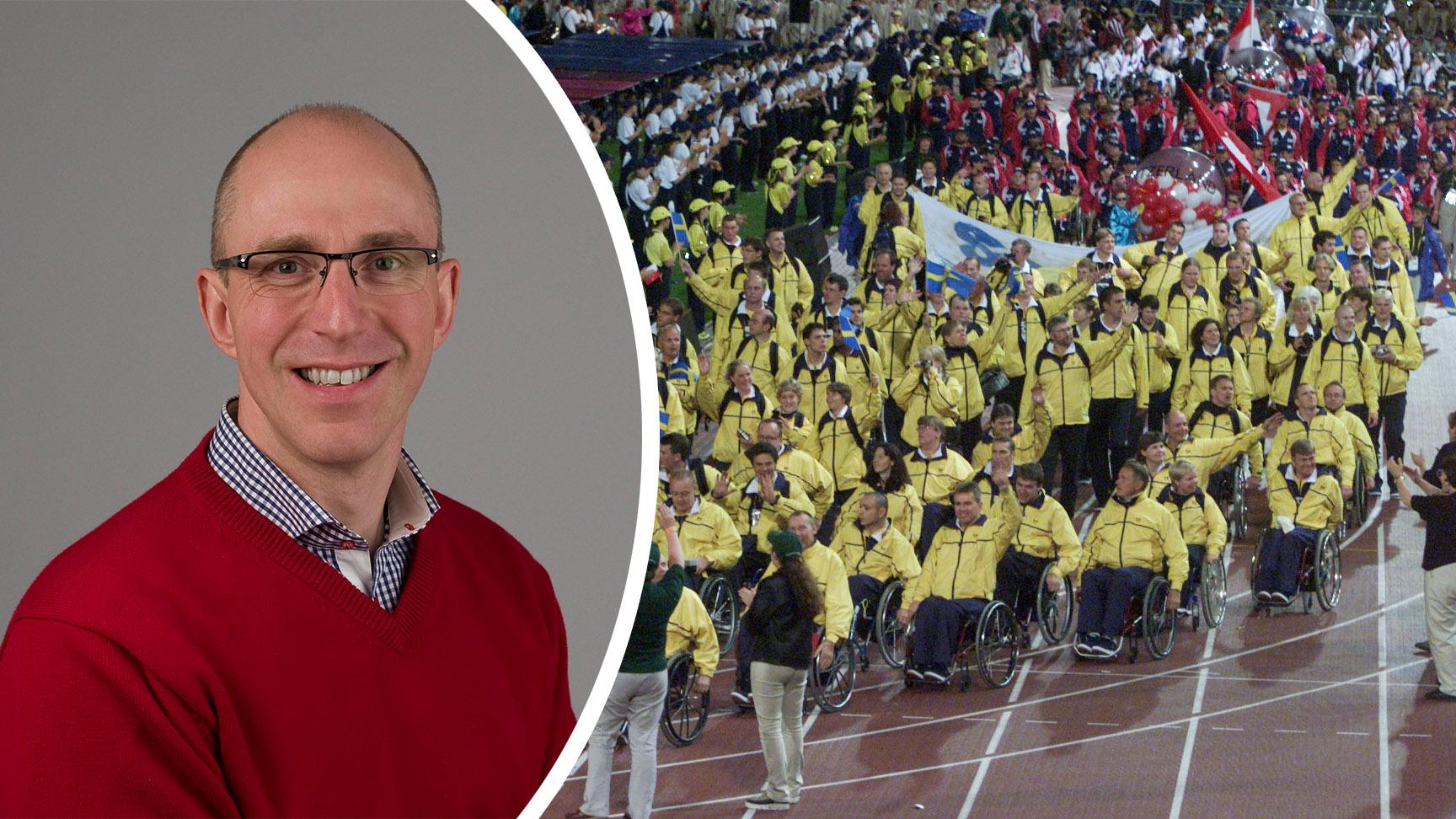 Håkan Ericsson var fanbärare under invigningen i Paralympics 2000. Nu 21 år senare är han återigen med och bidrar till svenska framgångar.